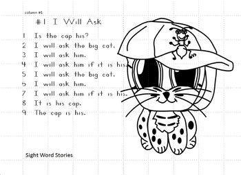 Kindergarten Reading Sight Words and 21 Stories Common