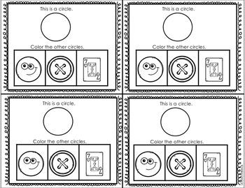 Kindergarten Shapes Exit Tickets: Kindergarten Geometry by