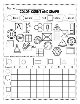 Kindergarten 2d and 3d Shapes Worksheets by Melissa Moran