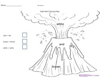 Kindergarten Sight Word Coloring Pages Full Version by