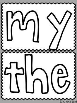 Kindergarten Sight Word Playdoh Mats by Katrina's