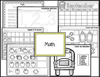 Kindergarten Sub Plans {September-Back to School} by Hey