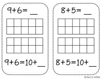 Interactive Kindergarten Math Journal: Teen Numbers by