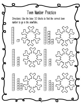 Kindergarten Christmas Break Packet by Engaging Elementary