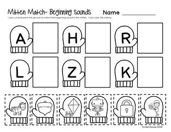 Kindergarten Winter Phonics Print then Practice by The