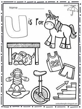 Kindergarten Wonders (2014) Reading Supplement ~ Unit 7