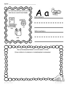 Kindergarten Wonders Unit 1 Homework Packet by Kinder