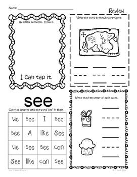 Kindergarten Wonders Unit 2 Homework Packet by Kinder
