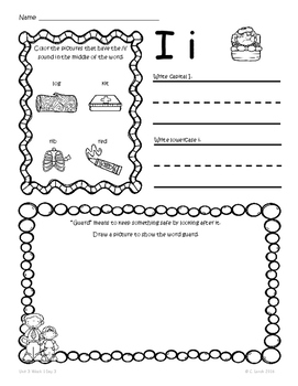 Kindergarten Wonders Unit 3 Homework Packet by Kinder