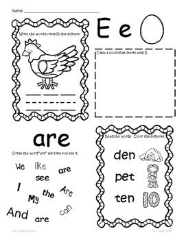 Kindergarten Wonders Unit 5 Homework Packet by Kinder