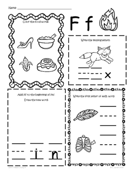 Kindergarten Wonders Unit 5 Homework Packet by Kinder