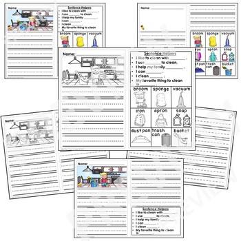 Kindergarten Writing Prompts Differentiated (Visuals