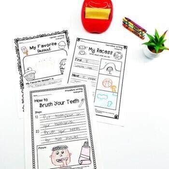 Kindergarten Writing Worksheets/Prompts Bundle (Opinion