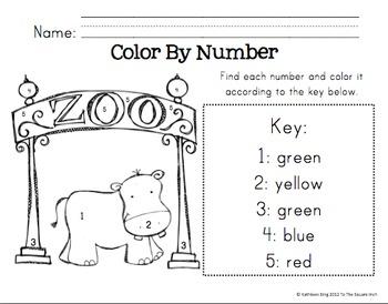 Kindergarten Zoo Math Activities and Centers Common Core