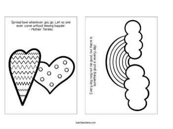 Kindness and Happiness Coloring Notes by Karyn- Teach