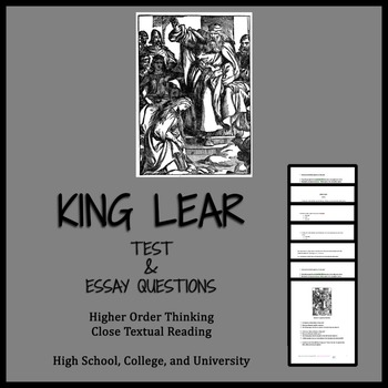 King Lear (test, Qs, and AP® ENGLISH LITERATURE FREE