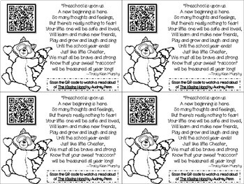 Kissing Hand QR Code Parent Poem by Mrs Stocks School