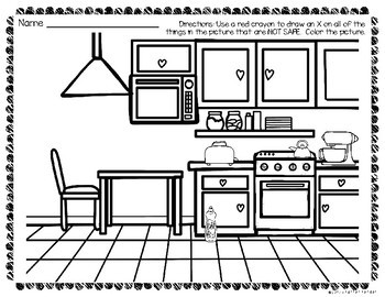 Kitchen Safety Worksheets and Activities Pack by The Super