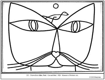 Klee, Paul. Cat and Bird. by Amy Hauptman / Sally