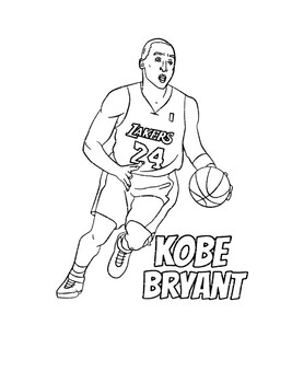 Kobe Bryant Coloring Pages for an Essay by Brilliant