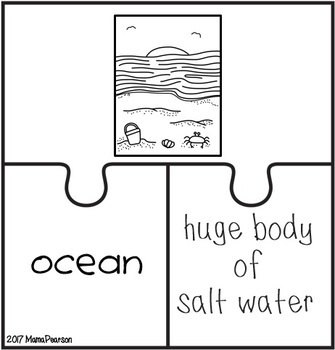 LANDFORMS Posters, Games, Task Cards and Puzzles by Mama