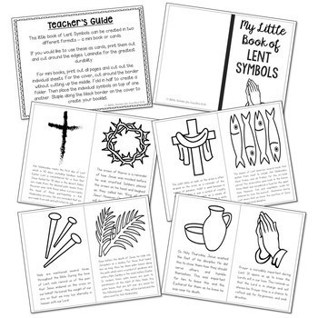 LENT Symbols Posters, Coloring Pages, and Mini Book