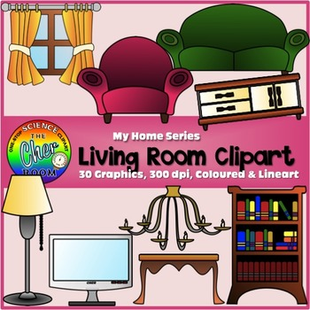 living room pictures clipart open plan small kitchen my home series i by the cher tpt
