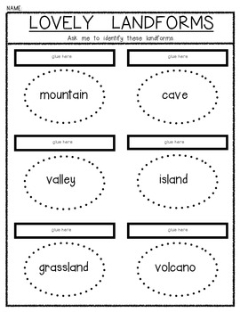 Lovely Landforms Lift The Flap Fun Social Stu S