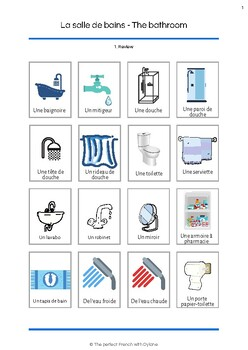 La Salle De Bains The Bathroom Vocabulary By The Perfect French With Dylane