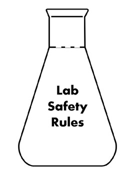 Lab Safety Rules Interactive Notebook Foldable by Wise Gal