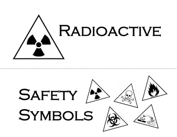 Lab Safety Symbols Word Wall, Memory Game and Worksheet