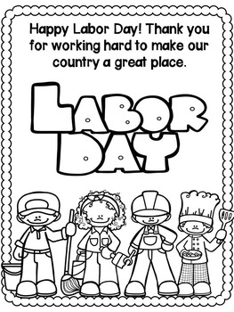 Labor Day Activities (No Prep worksheets for grades 1-3