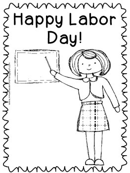 First Grade Social Studies: Labor Day Coloring Pages by