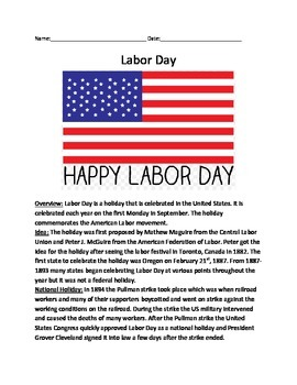labor day history informational