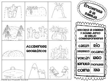 Landforms English Amp Spanish By Mynda Rivera