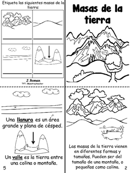 Landforms/ Accidentes Geograficos bilingual book by