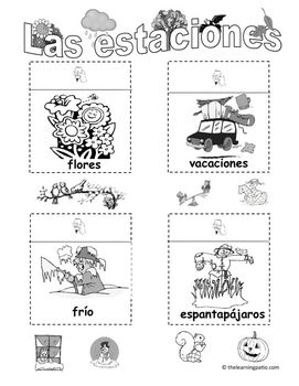 Las estaciones (Seasons in Spanish) with bonus Halloween