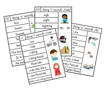 Later Sounds Vowel/Syllable Variability Cards for
