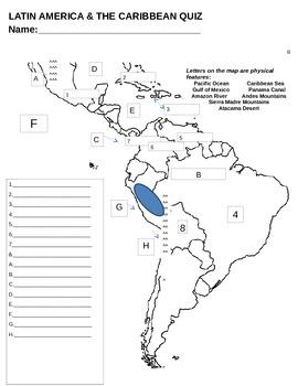 Printable 6th Grade South America Map Blank