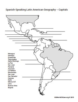 Latin American Countries and Capitals: Geography