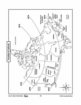 Latitude, Longitude & Scale Canadian Mapping Activities Gr