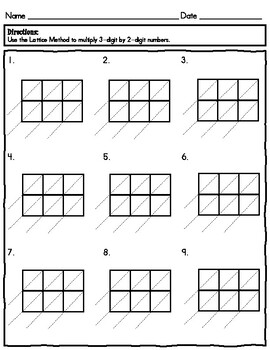 Lattice Method 3-digit by 2-digit Multiplication by Laugh
