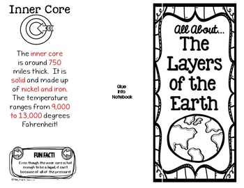 Layers of the Earth Interactive Notebook Brochure by
