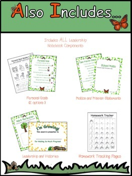 COMPLETE Kindergarten Leadership Notebook/Data Notebook