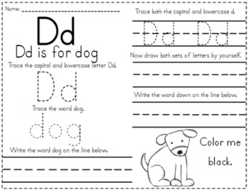 Learn to Write the Alphabet Activity Worksheet Packet by
