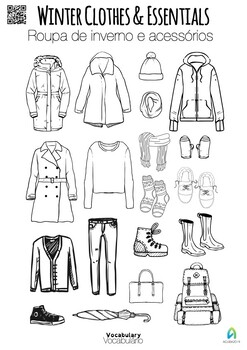 Learn vocabulary: winter clothes and essentials by