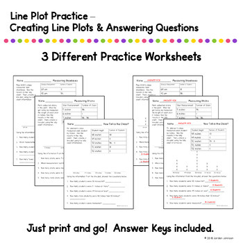 Line Plot Practice and Activities by Team J's Classroom