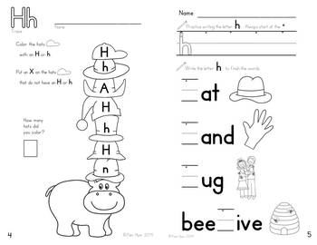 Alphabet Activities: Learning My Letters [Hh] by Pamela