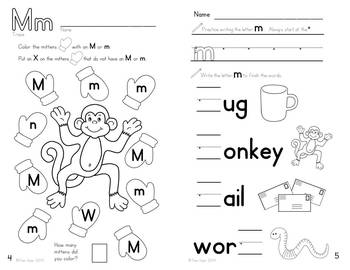 Alphabet Activities: Learning My Letters [Mm] by Pamela