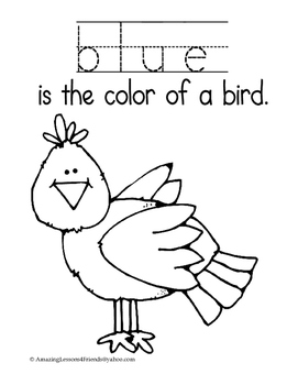 Learning Our Colors Read and Coloring Sheets by